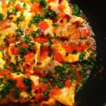 Salmão ao molho de tomates