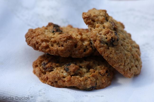 biscoito de aveia e cranberry