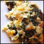 Arroz de forno com espinafre e queijo