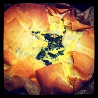 Receita: Rápida Torta de espinafre e feta do Jamie Oliver