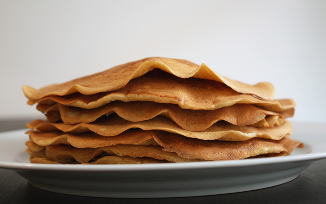 Panqueca americana de farinha de arroz integral