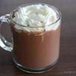 Chocolate quente cremoso belga