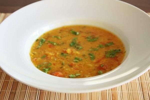 Dal, Sopa de lentilhas vermelhas indiana