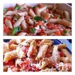Macarrão caprese fácil e rápido (muzzarela, tomate e manjericão)