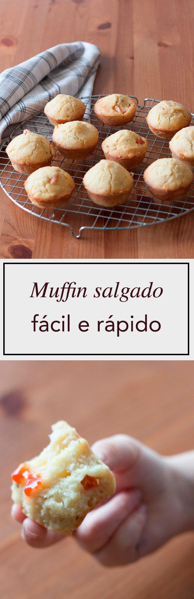 Delicioso muffin salgado fácil e rápido de preparar e super versátil. Perfeito para um lanche ou refeição leve.